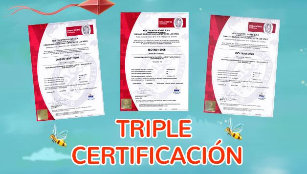 ¡Tenemos tripe certificación para darles la mejor calidad de educación a tus hijos!